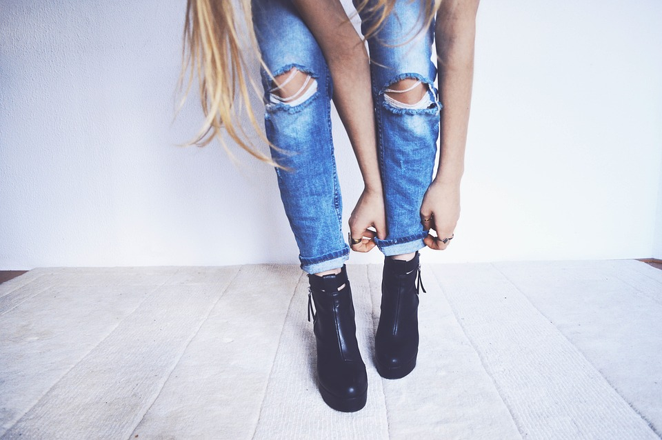 mode jeans destroy